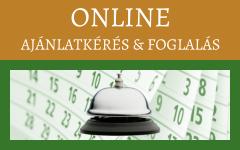 Online ajánlatkérés & foglalás